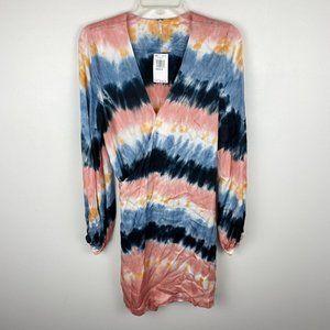 NWT Young Fabulous Broke Tie Dye Wrap Dress M